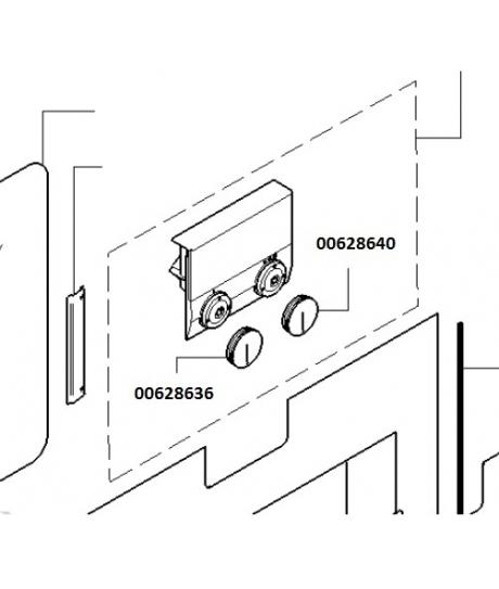 Bouton rotatif de four Gaggenau 628640 00628640