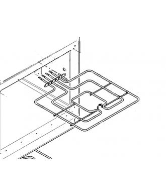 Résistance supérieur de voute grill pour four 11005012 Bosch Siemens Neff Viva Constructa