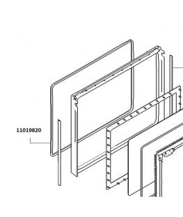 Joint de porte de four 11019820 Bosch Siemens Neff Viva Constructa