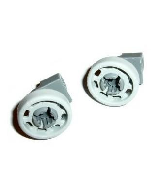 Jeu de 2 roulettes panier supérieur lave-vaisselle Bosch et Siemens 00424717